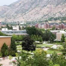 An Aerial view of BYU campus